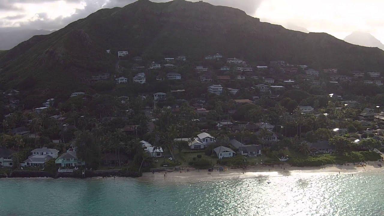 Na Mokulua Hawaii: Drone Aerial View Of Kailua, Lanikai Beach & Na Mokulua