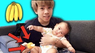 Baby Starley Tries Food for the FIRST TIME!