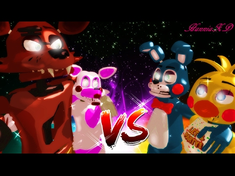 FOXY Y MANGLE VS TOY BONNIE E CHICA •ᴍᴍᴅ•