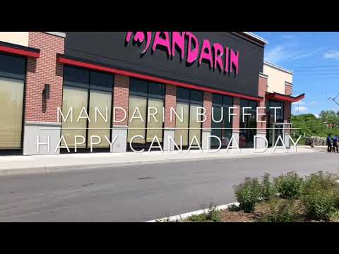Mandarin Buffet July 2019 Free Meal On Canada Day In Ottawa Kanata With Huge Line Up Ontario