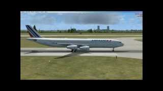 fsx air france airbus a340 313x takeoff from paris cdg with the most realistic cfm 56 5c sound