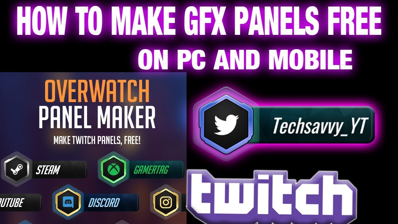 How To Make Twitch, Twitter Panels on Mobile and PC EASY