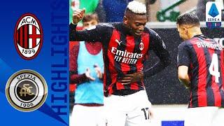 Milan 3-0 Spezia | Il Milan batte lo Spezia e vola in testa alla classifica | Serie A TIM