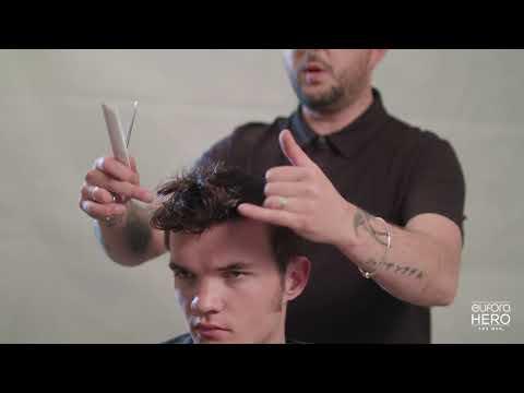 Scissor-Over-Comb Pompadour