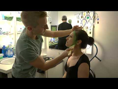 WATCH: Backstage at Wicked Learning Elphaba Makeup