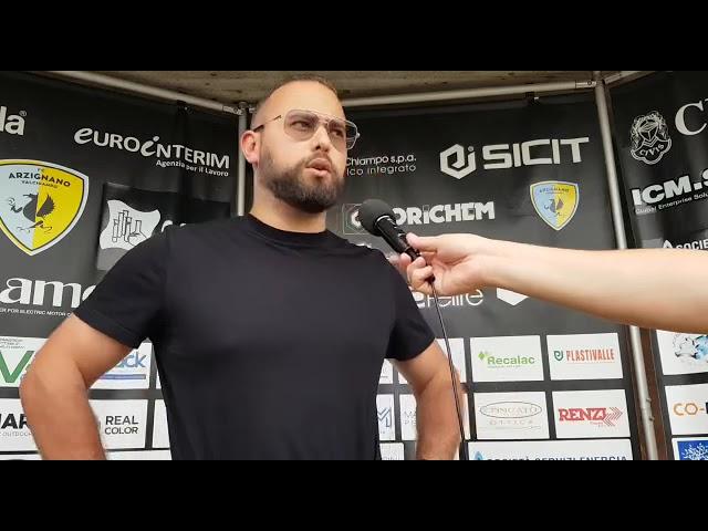 CALCIO- Enrico Gastaldello commenta a caldo la vittoria dell'Arzignano nella finale playoff