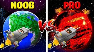 Minecraft NOOB VS PRO: PLANETS in MINECRAFT!