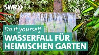 Künstlicher Wasserfall: Urlaubsgefühl im eigenen Garten