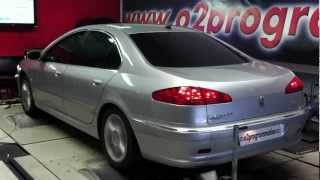 Test dyno reprogrammation moteur Peugeot 607 HDI 2.7 204ch o2programmation