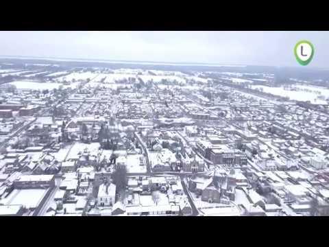 De witte wereld vanuit de lucht!
