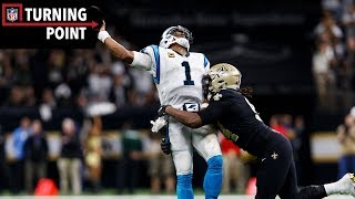 Cam Newton's Comeback Attempt Falls Short to Saints Pressure Defense (Wild Card) | NFL Turning Point