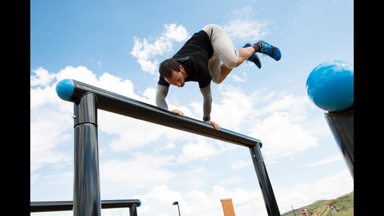 obstacle coarse logs for agility in movestrong outdoor gym youtube
