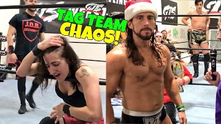 FEISTY GIRL DEFENDS TAG TEAM CHAMPIONSHIP! GTS WRESTLING SUPERCARD EVENT!