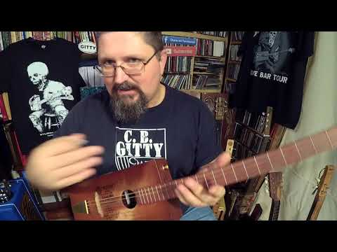 """How to Play a Beatlesque Cigar Box Guitar riff - """"Dance"""" by Shane Speal"""