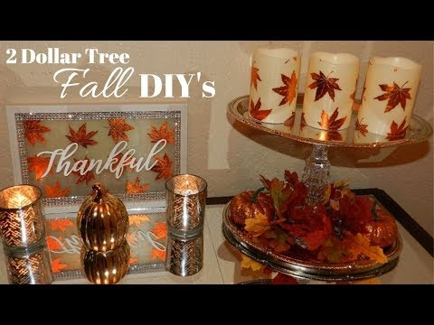 Glam Fall Home Decor DIY's| Dollar Tree DIY Fall Lighted Home Decor 2018