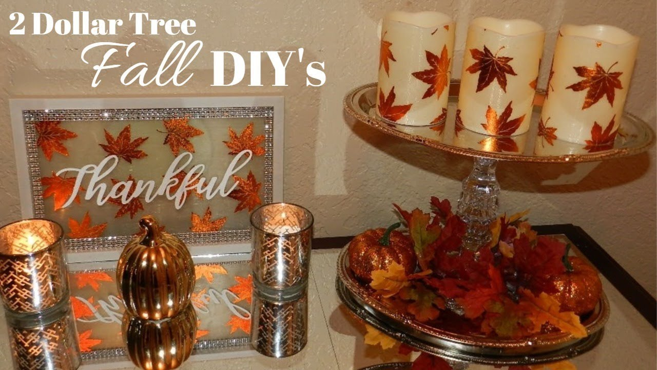 Glam Fall Home Decor Diy S Dollar Tree Lighted 2018