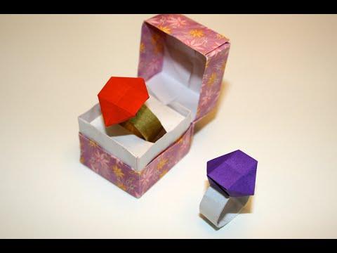 origami facile bague