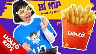 Làm khoai tây chiên KFC cùng chị Lio - Bé học tiếng Anh về đồ ăn Food | Lioleo Kids