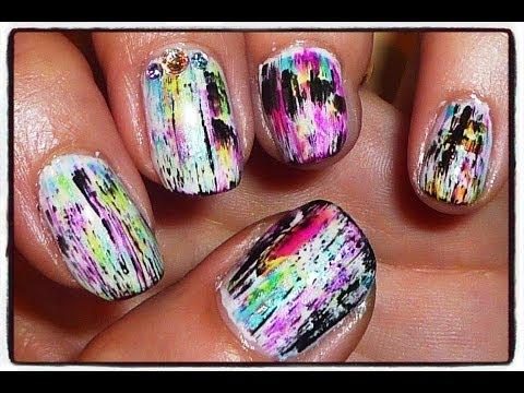 make crackle effect nail