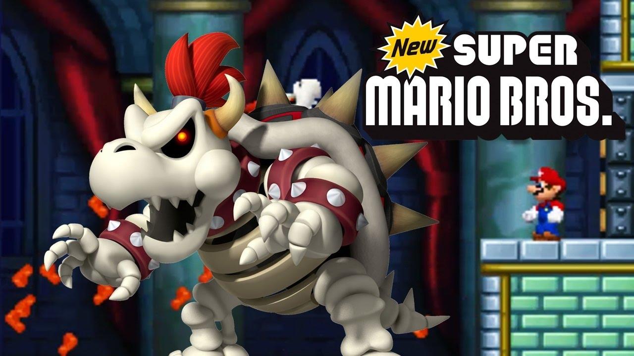 New Super Mario Bros 13 Bowser Esqueleto Youtube