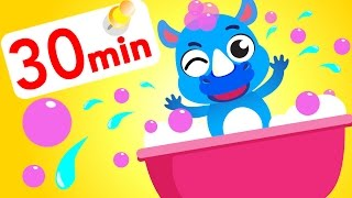 Bubble Bath Time With Little Blue Rhino! Tiger boo boo, Shaun the sheep by Little Angel Songs