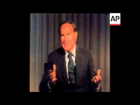 SYND 4-11-72 SENATOR GEORGE MCGOVERN ATTACKS PRESIDENT NIXON