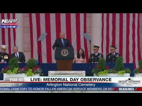 FULL SPEECH: President Trump Memorial Day Observance (FNN)