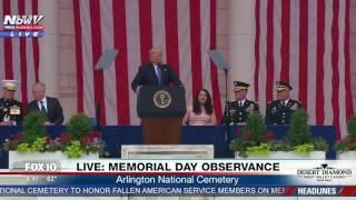 FULL SPEECH: President Trump Memorial Day Observance