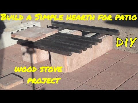 Make Patio Wood Stove Hearth & HOW I LIGHT My FIRES, Wood burning Stove PROJECT