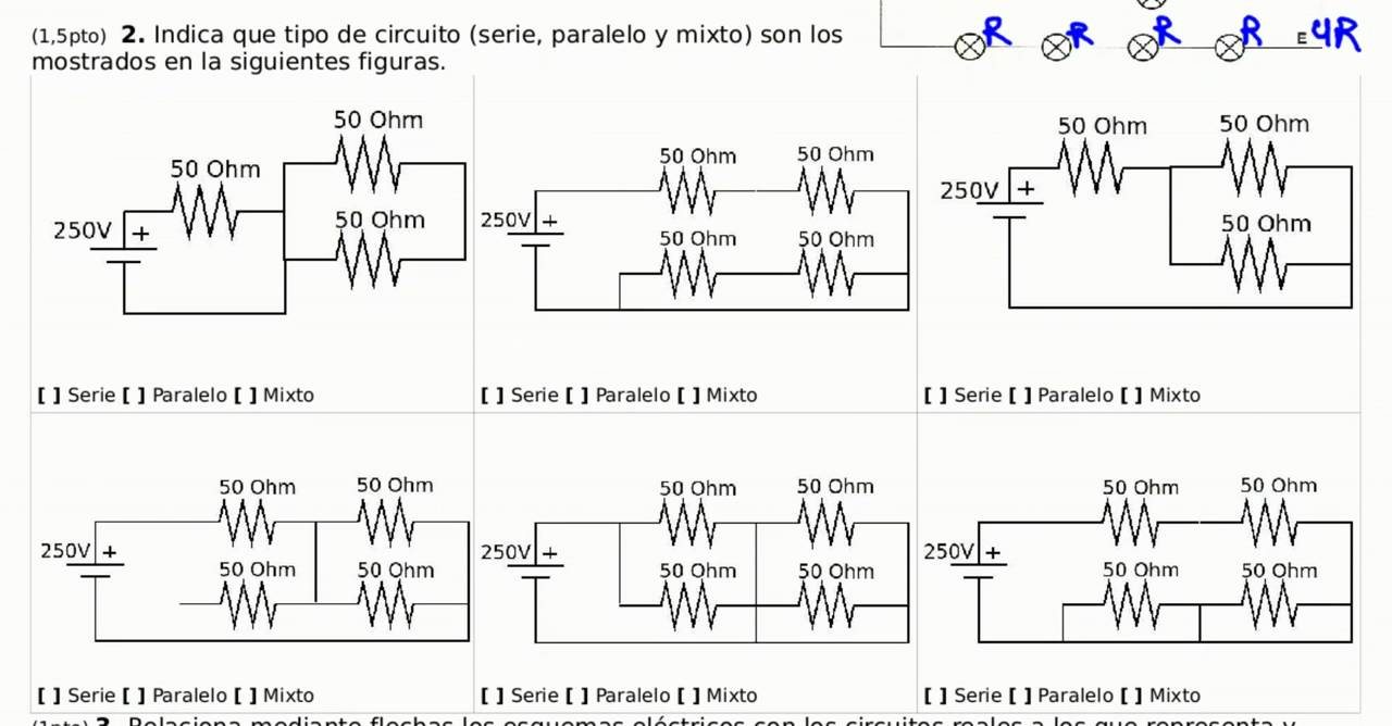 Circuito En Paralelo Ejemplos : Electricidad ejercicio resuelto identificación circuitos