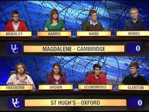 University Challenge: St Hugh's College, Oxford vs. Magdalene College, Cambridge - Part 1 of 3