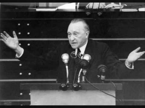 1949-09-21 - Konrad Adenauer - Rede vor dem Deutschen Bundestag (4m 07s)