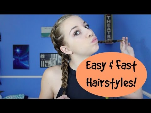 Easy And Fast Hairstyles For Dance