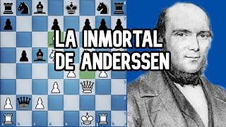 """AJEDREZ """"LA INMORTAL DE ANDERSSEN"""": Anderssen vs Kieseritzky  [GRAN PARTIDA DE ATAQUE]"""