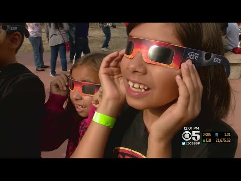 ECLIPSE NASA AMES:  Bay Area residents enjoy viewing the solar eclipse at NASA Ames