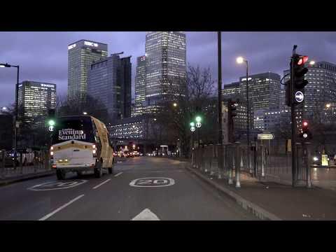 London Canary Wharf Drive, East-London, Virtual Tour, UK 🇬🇧