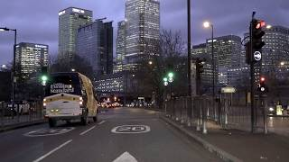London Canary Wharf Drive, East-London, Virtual Tour, UK 🇬🇧
