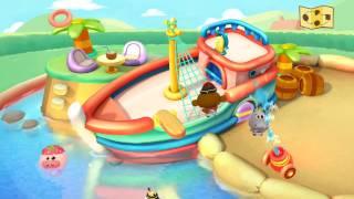 Animals Kids Playing in Swimming pool