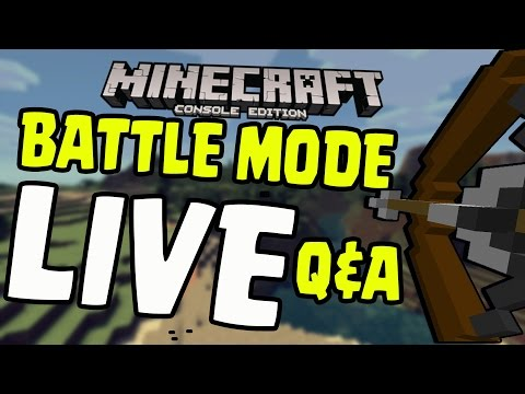 "Minecraft PS4/Xbox/Wii U - ""Battle Mode"" Title Update TU36 Q&A Survival Gameplay [LIVE]"