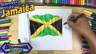 Aprende a dibujar la bandera de Jamaica - Learn to draw the flag of Jamaica