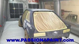 PART 1 Ford Escort RS Turbo Repaint Primer Application Including, Quartz VOC High Build Primer