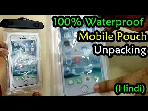 big sale 5b6cb 9e335 Waterproof Smartphone Pouch Review (Hindi) | Mobile Waterproof Cover  Unpacking Amazon India Package