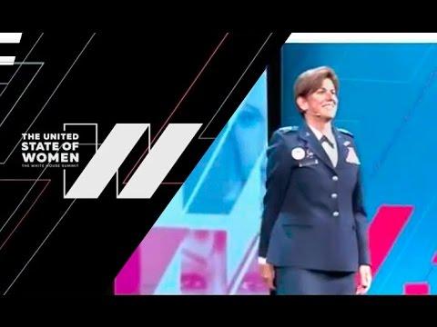 Gen Lori Robinson Speaks at United States of Women Summit