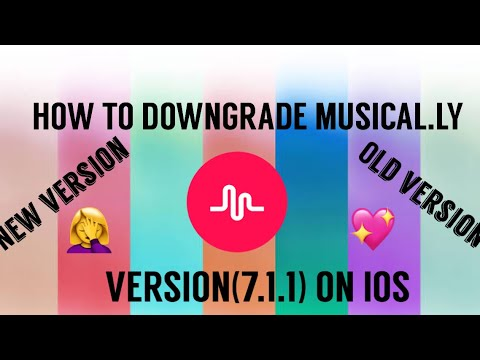 HOW TO DOWNGRADE MUSICAL LY VERSION 7 1 1 ON (IOS) (easiest