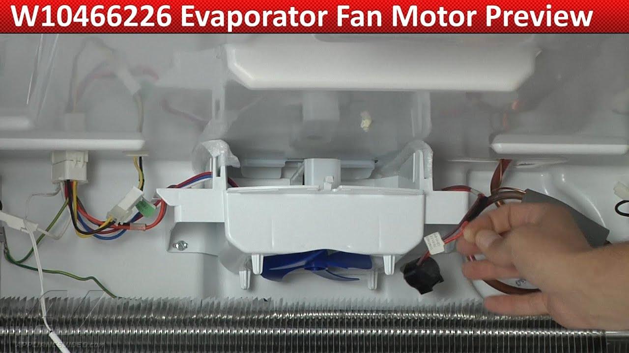 Evaporator Fan Motor Not Cooling Whirlpool Wrf989sda