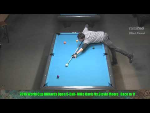 Mike Davis VS  Stevie Moore - 2016 World Cup Billiards 9 Ball Open Finals