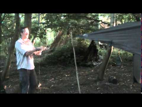 How to put up a hammock and tarp