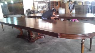 Imperio Collection 3500mm Expandable Dining Table Final Quality Control Video