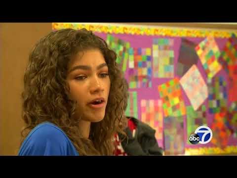 Zendaya teaches Oakland students about STEM