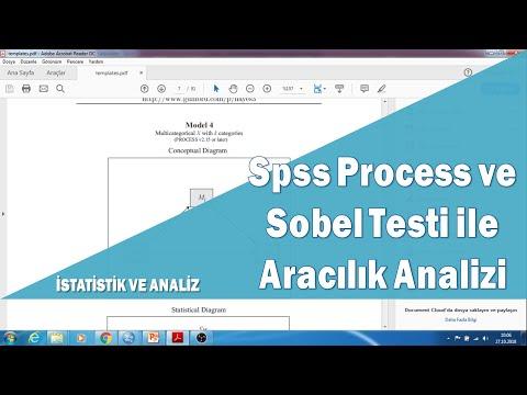 Spss Programı Process eklentisi ve Sobel Testi ile aracı değişken analizi ve hipotez testleri